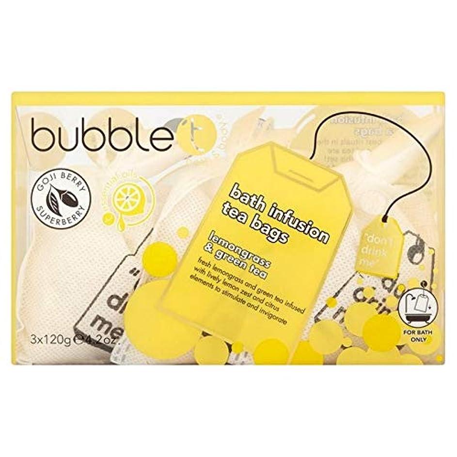 バルセロナ書道蓋[BUBBLE T] バブルトンのレモングラス&緑茶風呂輸液トンバッグ - Bubble T Lemongrass & Green Tea Bath Infusion T-Bags [並行輸入品]