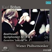 ベートーヴェン : 交響曲 第5番&第6番 | レオノーレ序曲第3番 (Beethoven : Symphonien Nr. 5 & 6 , Ouverture ''Leonore'' Nr. 3 / Karl Bohm , Wiener Philharmoniker (1977 Tokyo Live)) [SACD シングルレイヤー]