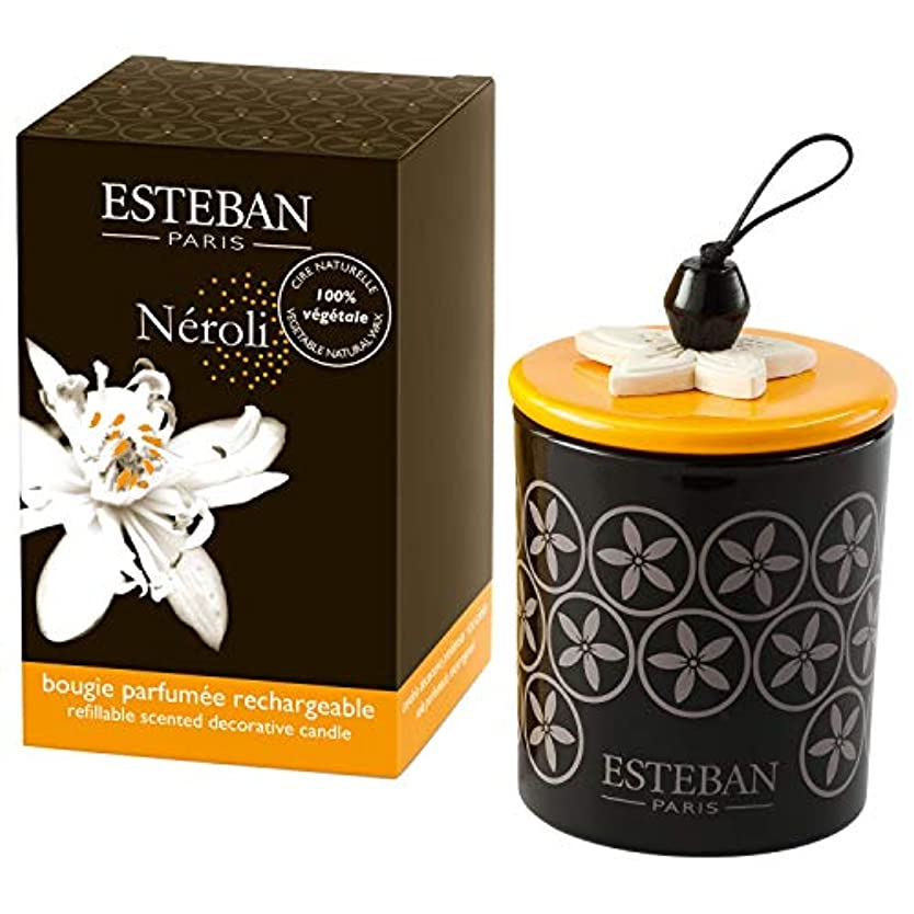 ガジュマル合理的イタリアの[Esteban ] エステバン?ネロリの香りに装飾キャンドル170グラム - Esteban Neroli Scented Decorated Candle 170g [並行輸入品]