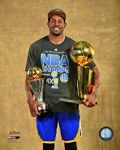 """Andre Iguodala Golden State Warriors MVP & NBA 2015NBAファイナルトロフィー写真(サイズ: 8"""" x 10"""")"""