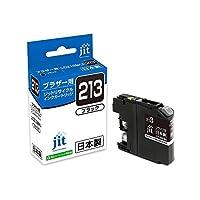 (まとめ買い) ジット リサイクルインクカートリッジ ブラザー LC213BK ブラック対応 JIT-B213B 【×3】