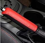 MAZDA マツダ CX-5 ハンドブレーキ カバー 赤黒 高級本革手作り 汎用可能
