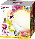 東芝 E-CORE(イー・コア) LED電球 <キレイ色-kireiro-> ボール電球形9.6W(高演色タイプ・ボール電球40W相当・610ルーメン・電球色)外径95mmタイプ LDG10L-D/G95 口金直径26mm