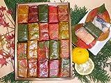【よしの弁天屋 紅葉柿の葉すし】期間限定紅葉バージョン 40個入り(鯖30鮭10)(20個入り2段)