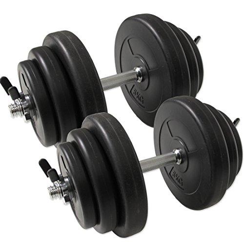 タンスのゲン G-Body ダンベル 20kg 2個セット 40kg スプリングクリップ付き 24610011 01
