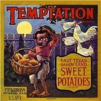 AmericanマグネットマグネットPittsburg Texas誘惑Sweet Potato Yams Vegetableクレートマグネットアートプリント
