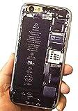 (ポルトプエルト) Porto Puerto iPhone 7/7 Plus ケース カバー ユニーク びっくり パロディ 個性的 サプライズ 画面が割れた TPU ソフト iBroke アイフォン ( iPhone 5/5s/SE/6/6 Plus/6s/6s Plus ) (iPhone 7, 分解)