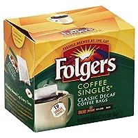 Folgers Classic Medium Roast Decaf Coffee, 19 Ct Singles Serve (Pack of 12)