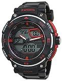 CREPHA腕時計t-sportsアナログとデジタル表示10気圧防水ブラックaz-ts-ad047-bkメンズ