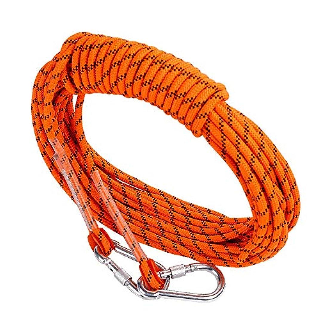 しかしながら安全性ルーキークライミングロープ ザイル 屋外の安全プロフェッショナルロッククライミングロープコード洞窟探検懸垂下降サバイバル補助コード(オレンジ) 登山ロープ (Color : Orange, Size : 12mm x 10m)