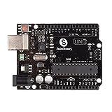 サインスマート UNO R3 ATmega328P 互換ボード + USBケーブル(Arduino UNO R3 Mega 2560 に対応)オリジナルバージョン