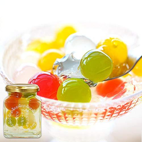 ふみこ農園 ホワイトデー プチギフト 退職 お礼 子供 お返し 果汁たっぷり!フルーツゼリーボールコンポート ミックス 食べきりサイズ (通常)