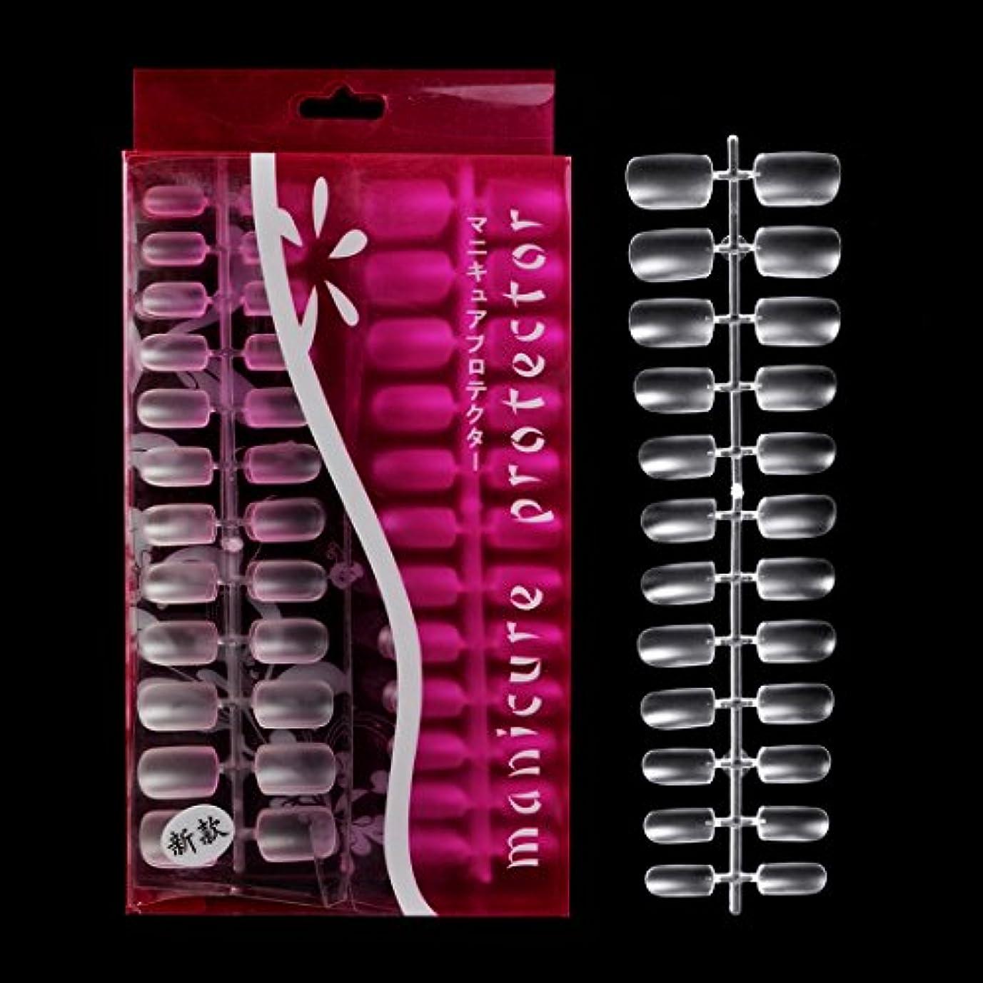 化合物元気サラダBiutee 288枚セット 透明ネイルチップ 本物のチップようなネイルチップ 無痕素材 ネイルチップ ミディアムオーバル フルカバー.