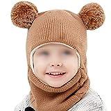 右店幼児暖かい帽子冬フード付きスカーフ耳フラップニットキャップ子供のためのかわいいギフトスーツ