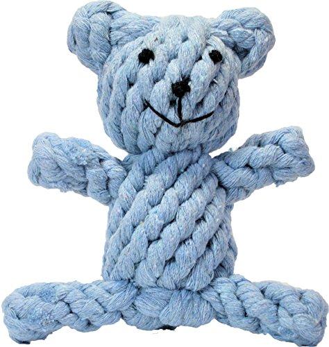 Seven Miles ペット用 犬 噛む 綿 コットン ロープのおもちゃ クマ (ライトブルー)