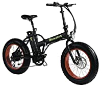 """MONSTER 20 - The Folding Electric Bike - Wheel 20"""" - Motor 500W, 48V-12ah - LCD on-board computer with 3 help levels - Chassis: Aluminium (光沢のある黒 / BRIGHT BLACK)"""