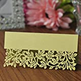 ULTNICE Table Name Place Cards for Wedding Party Table Decoration Green Pack of 50