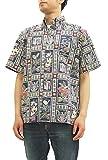 (レインスプーナー) アロハシャツ Summer Commemorative メンズ 半袖シャツ 125-1974 C/#05ネイビー (2XL(アメリカサイズ))