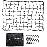 ValueHall CargoNet Heavy Duty Truck Bed Net 4 x 6 feet Stretches to 8 x 12 feet Cargo Net for Truck Bed Cargo Net with 12PCS Carabiners V7073