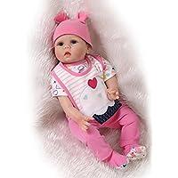 Lifelike新生児赤ちゃんSiliconeビニールRebornギフト人形ハンドメイドReborn人形Lovelyピンク22インチ55 cm