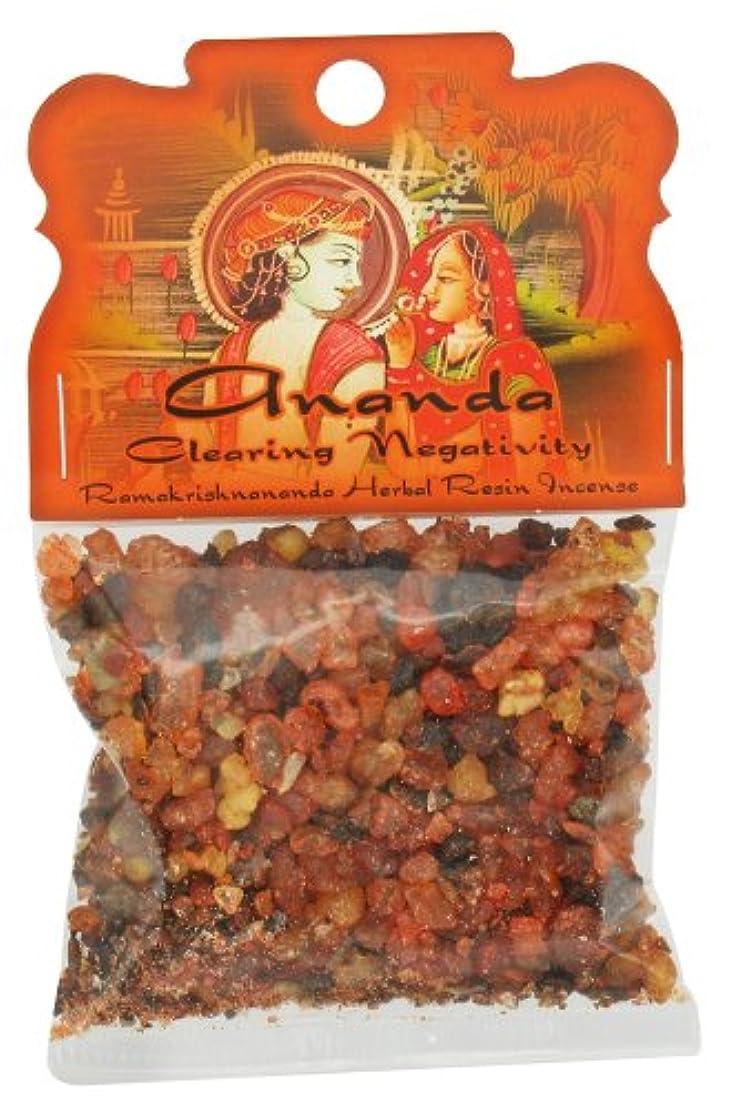 インドもろいおなじみの樹脂Incense Ananda – Clearing Negativity – 1.2ozバッグ