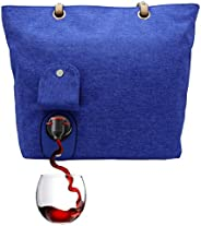 PortoVino City Wine Tote - Fashionable Wine Purse with Hidden, Insulated Compartment, Holds 2 Bottles Wine! /