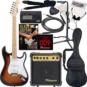 SELDER エレキギター ストラトキャスタータイプ ST-16 初心者入門13点セット /サンバーストM(9707002611)