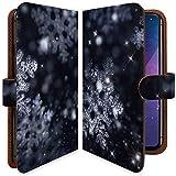 【KEIO】isai LGL22 手帳型 ケース カバー 結晶 氷 雪の結晶 LGL 22ケース LGL 22カバー イサイ 手帳型ケース 手帳型カバー 冬 雪 クリスマス [氷の結晶/t0188]