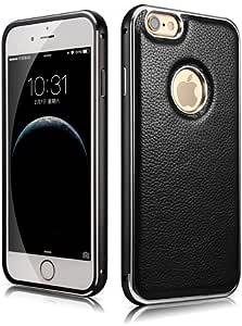 iPhone 6 Plus/6S Plus 専用 本革採用 アルミフレーム+レザージャケットケース(MIPS-6011BK)