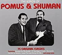 The Songs of Pomus and Shuman by Pomus and Shuman (2014-01-14)