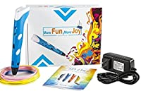 Maven Gifts: 3D Pen for 3D Doodling, Design, and Arts and Crafts Comes with Pen, 3 Multicolored Filament Refills, Charging Cord, and Instruction Manual Easier than Drawing Ages 8 and Up [並行輸入品]