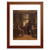 Burger, Anton,1824-1905 「Der Adlerwirt Renker in Cronberg. 1861.」 額装アート作品