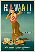 Pan Am–ハワイヴィンテージポスター(アーティスト: Atherton ) USA C。1948 24 x 36 Signed Art Print LANT-64235-710
