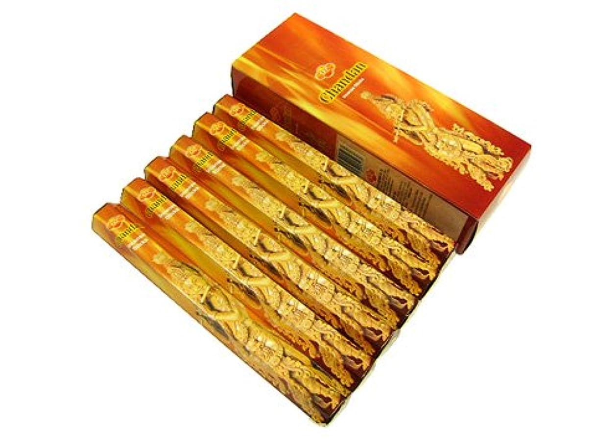 アルカトラズ島もつれ提供SANDESH SAC (サンデッシュ) チャンダン香 スティック CHANDAN 6箱セット