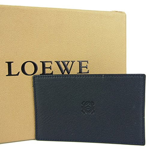 (ロエベ) LOEWE ナッパ レザー 名刺 定期入れ カードケース 箱付き ブラック 23560eSaM 中古