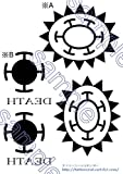 ワンピース トラファルガー・ロー 腕・手 タトゥーシール コスチューム用小物 A5
