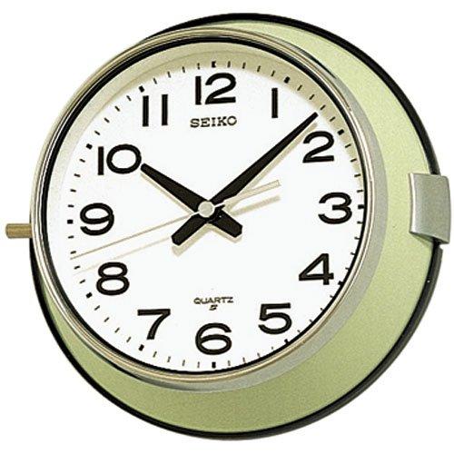 RoomClip商品情報 - 【SEIKO】セイコークロック/船舶時計/バス時計/防塵型/クォーツ掛時計/KS474M/アナログ/金属薄緑