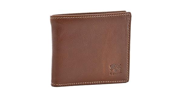 bcff7cc1131d Amazon | IL BISONTE(イルビゾンテ) 財布 メンズ カーフスキン 2つ折り財布 ブラウン C0487-MPO-566 [並行輸入品]  | 財布