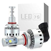 zodoo LEDヘッドライトHB3(9005) 車検対応 ワンタッチ取付 切り替えタイプ CREE製 XHP50 LEDチップ搭載 8000LM 40W 6500K DC12-24V ホワイト 2個セット保証1年 Z7SHB3
