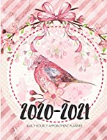 Daily Planner 2020-2021 Pink Ribbon Bird 15 Months Gratitude Hourly Appointment Calendar: Academic Hourly Organizer In 15 Minutes Interval; Monthly & Weekly Journal Diary With Address Book & Password Log; Jan 2020 To Mar 2021 With Julian Dates