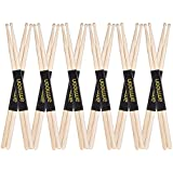 Docooler ammoon 12 Pairs of 5A Wooden Drumsticks Drum Sticks Fraxinus Mandshurica Wood Drum Set Accessories