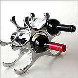 ワインラック おしゃれ ワインスタンド ワインボトルホルダー アルミのスタイリッシュワインホルダー [ebn6339]
