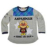 アンパンマン 長袖Tシャツ フェイクレイヤードタイプ 男の子 女の子 ANPANMAN 春物 fo-oa3587 80cm グレー