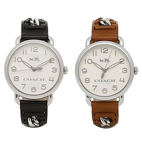 [コーチ]COACH 時計 ペアウォッチ ボーイズサイズ デランシー 36mm ブラック ブラウン レザー 1450227214502273 腕時計 [並行輸入品]