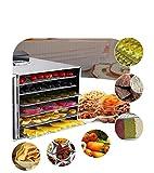 食品乾燥機 ドライフルーツ 6層 フード ドライヤー 野菜 果物 キノコ 花 乾燥 智能温度制御 LCD 熱風循環 業務用 家庭用 食品グレード304 ステンレス鋼