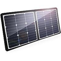 Poweradd ソーラーチャージャー 50W ソーラー充電器 軽量 薄型 折りたたみ式 ソーラーパネル 防水 耐衝撃 防塵 iPhone iPad Galaxy HUAWEI Kindle など スマートフォン タブレット モバイルバッテリー 対応 防災 非常用 スマホ充電器 アウトドア