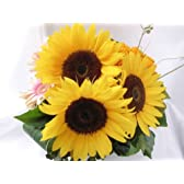 歳の数だけヒマワリの花束(誕生日祝い、結婚記念日のプレゼントにオススメ)