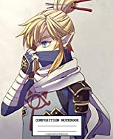 Composition Notebooks: The Legend of Zelda Glossy Cover Wide Ruled Blank Lined Soft Cover Journal Paper 7.44 x 9.69 Inches 110 Pages