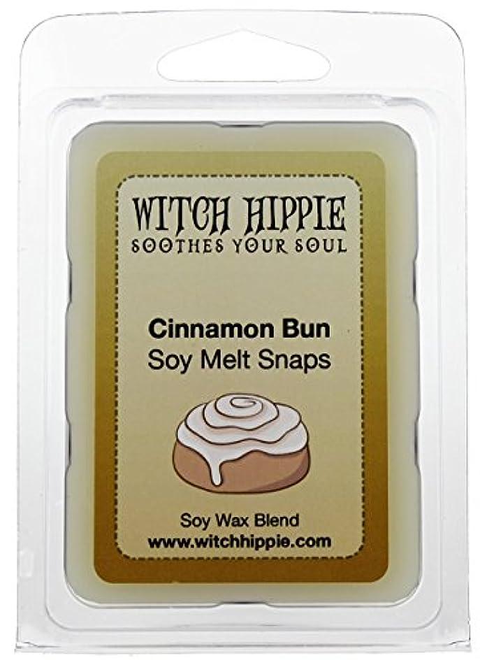 ジョグ可能性レーニン主義シナモンロール香りつきないキャンドルCandle Tarts、6自然大豆ワックスキューブby魔女ヒッピー
