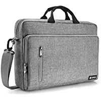 tomtoc Laptop Briefcase, 15-15.6 Inch Multi-Functional Laptop Shoulder Messenger Bag for 15-inch MacBook Pro, Dell XPS 15, Surface Book 2, Ultrabooks, Chromebooks, Notebooks